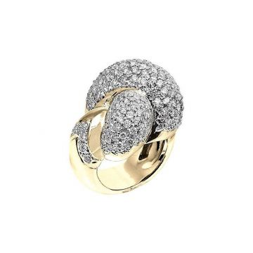 Vahan 14k Yellow Gold & Sterling Silver Gold Pave Ring