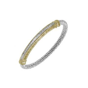 Vahan 14k Yellow Gold & Sterling Silver Bar Bracelet