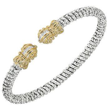 Vahan 4mm 14k Gold & Sterling Silver Diamond Bracelet