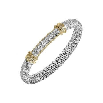 Vahan 14k Yellow Gold & Sterling Silver Pave Bracelet