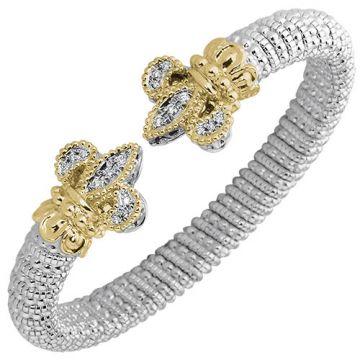 Vahan 8mm 14k Gold & Sterling Silver Diamond Bracelet