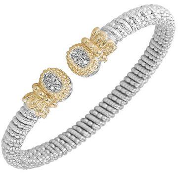 Vahan 6mm 14k Gold & Sterling Silver Diamond Bracelet