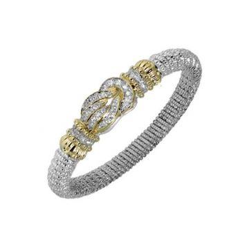 Vahan 14k Yellow Gold & Sterling Silver Diamond Knot Bracelet