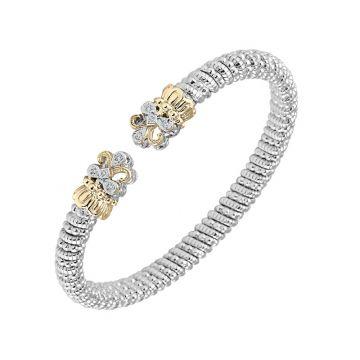 Vahan 14k Yellow Gold & Sterling Silver Sterling Open Fleur de Lis Bracelet