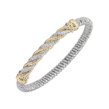 Vahan 14k Yellow Gold & Sterling Silver Twisted Diamond Bracelet