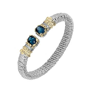 Vahan 14k Yellow Gold & Sterling Silver London Blue Topaz Bracelet