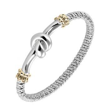 Vahan 4mm 14k Gold & Sterling Silver Bracelet