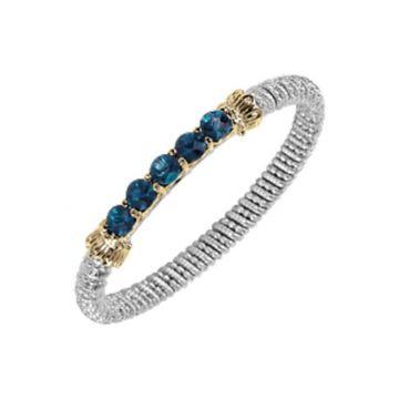 Vahan 14k Yellow Gold & Sterling Silver Sterling London Blue Topaz Bracelet