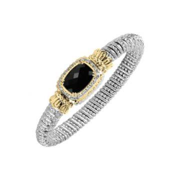 Vahan 14k Yellow Gold Black Onyx Bracelet