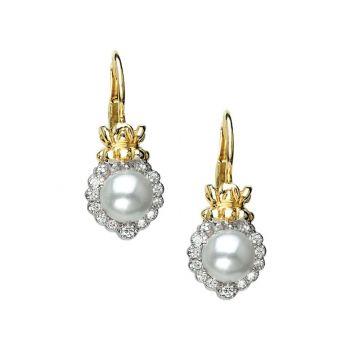 Vahan 14k Yellow Gold & Sterling Silver Pearls Earrings