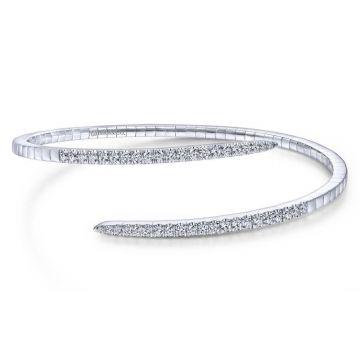 Gabriel & Co. 14k White Gold Demure Diamond Bangle Bracelet