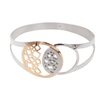 Frederic Duclos Rose Gold Plated Sterling Silver Cuff Bracelet