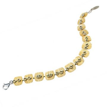 Frederic Duclos  Sterling Silver and Yellow Gold Plated Wilma Bracelet