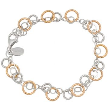 Frederic Duclos  Sterling Silver Rose Sparkle Ring Bracelet