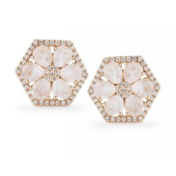 Frederic Duclos  Sterling Silver and Yellow Gold Plated Makayla Earrings