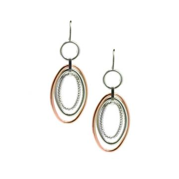 Frederic Duclos  Sterling Silver and Rose Gold Plated Vanessa Earrings