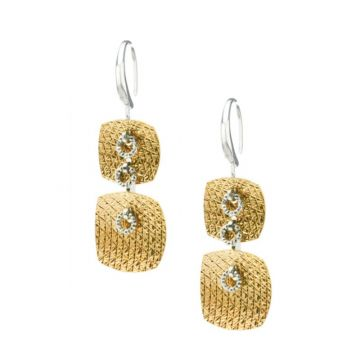 Frederic Duclos  Sterling Silver and Yellow Gold Plated Wilma Earrings