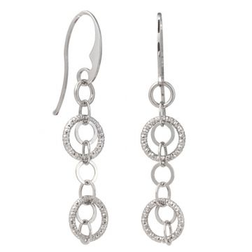 Frederic Duclos  Sterling Silver Billowing Rings Earrings