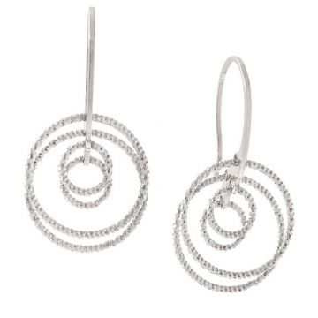 Frederic Duclos  Sterling Silver Circle Game Earrings