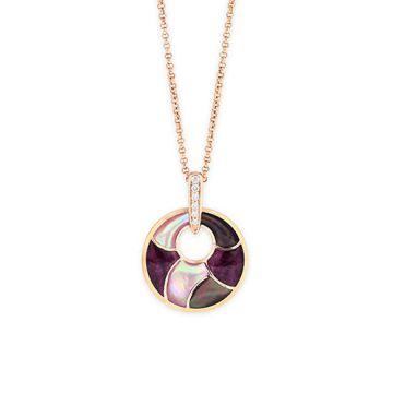 Kabana 14k Rose Gold Mother of Pearl Inlay Pendant