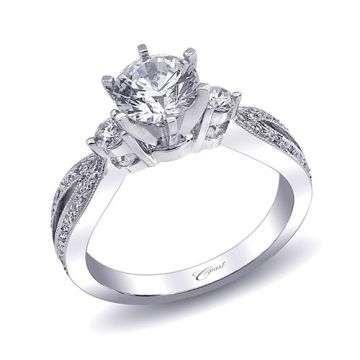 14k White Gold Coast Diamond 0.29ct Diamond Semi-Mount Engagement Ring
