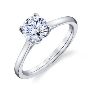 Coast Diamond 14k White Gold 1ct Solitaire Engagement Ring