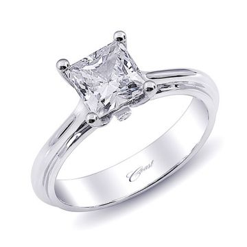 14k White Gold Coast Diamond 0.01ct Diamond Semi-Mount Engagement Ring