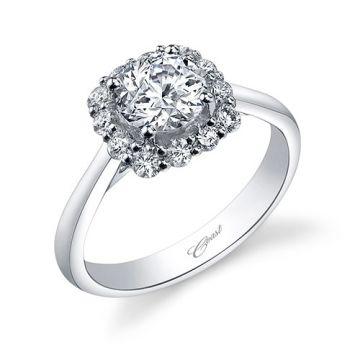 14k White Gold Coast Diamond 0.45ct Diamond Semi-Mount Engagement Ring