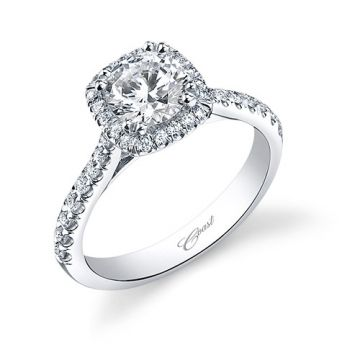 14k White Gold Coast Diamond 0.35ct Diamond Semi-Mount Engagement Ring