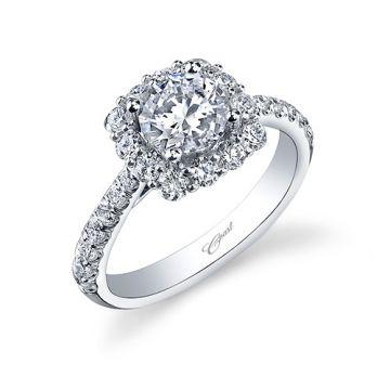 14k White Gold Coast Diamond 0.78ct Diamond Semi-Mount Engagement Ring
