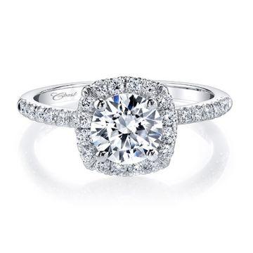 14k White Gold Coast Diamond 0.37ct Diamond Semi-Mount Fishtail Engagement Ring