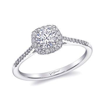 14k White Gold Coast Diamond 0.14ct Diamond Semi-Mount Fishtail Engagement Ring