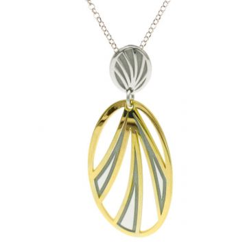 Frederic Duclos  Sterling Silver And Yellow Gold Plated Tropics Necklace
