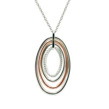 Frederic Duclos  Sterling Silver and Rose Gold Plated Vanessa Necklace