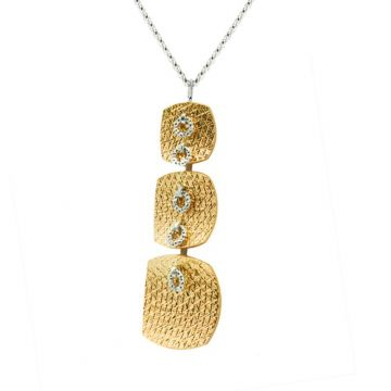 Frederic Duclos  Sterling Silver and Yellow Gold Plated Wilma Necklace