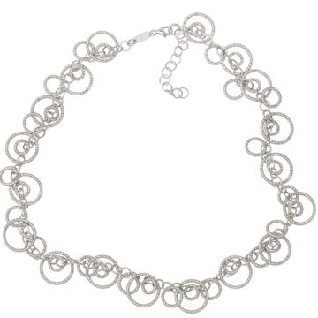 Frederic Duclos  Sterling Silver Circulation Necklace
