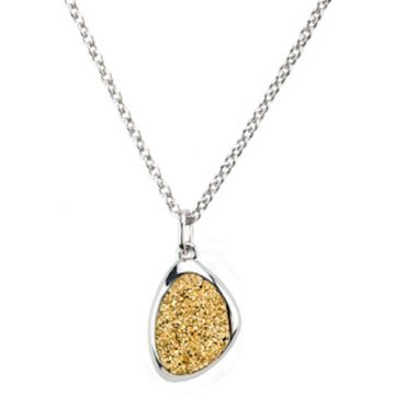 Frederic Duclos  Sterling Silver Golden Drusy Wanda Necklace