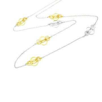 Frederic Duclos  Sterling Silver And Yellow Gold Plated Ooh'S Necklace
