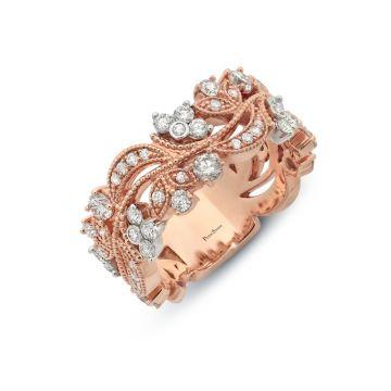 Peter Storm 14k Rose Gold Diamond Wedding Band