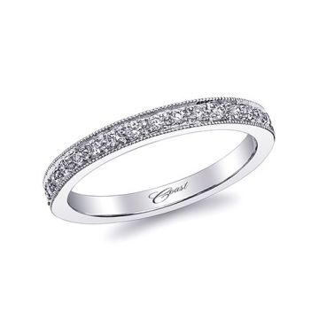 Coast 14k White Gold 0.17ct Diamond Wedding Band
