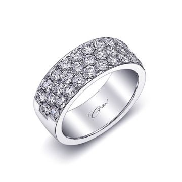 Coast 14k White Gold 1.78ct Diamond Wedding Band