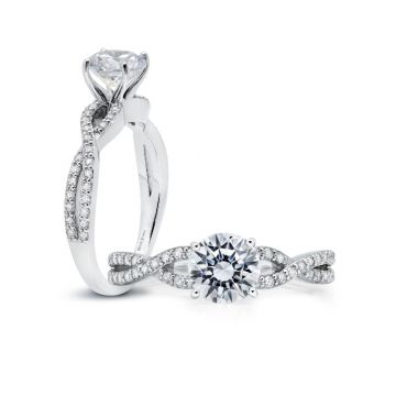 Peter Storm 14k White Gold Twisted Engagement Ring