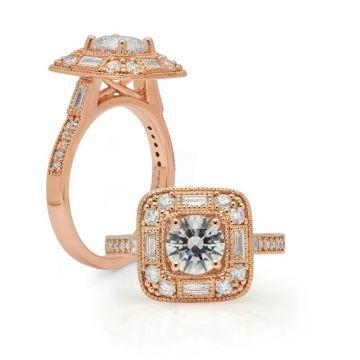 Peter Storm 14k Rose Gold Diamond Engagement Ring
