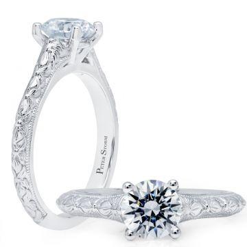 Peter Storm 14k White Gold Vintage Engagement Ring