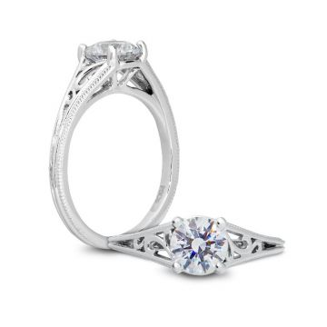 Peter Storm 14k White Gold Straight Diamond Engagement Ring
