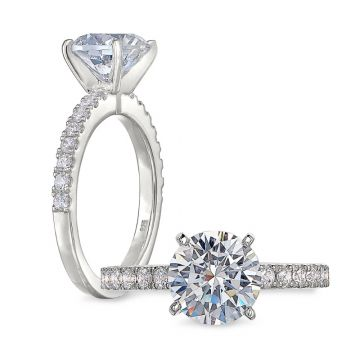 Peter Storm 14k White Gold 3 Stone Engagement Ring