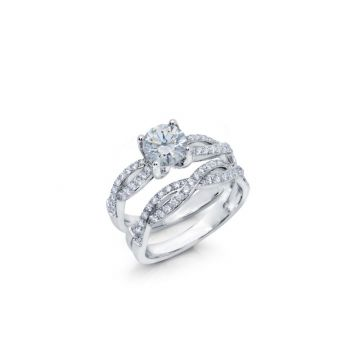Peter Storm 14k White Gold Diamond Engagement Ring