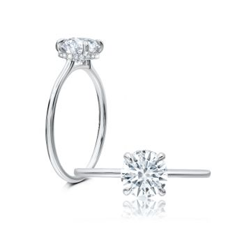 Peter Storm 14k White Gold Solitaire Engagement Ring