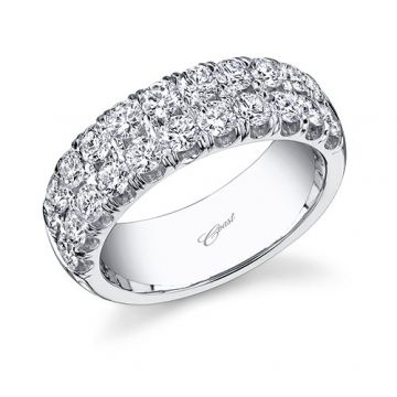 Coast 14k White Gold 1.45ct Diamond Wedding Band
