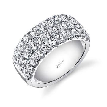 Coast 14k White Gold 2.3ct Diamond Wedding Band